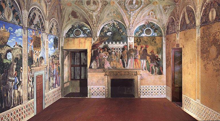 Vagabondaggi e inquadrature for Camera picta mantegna